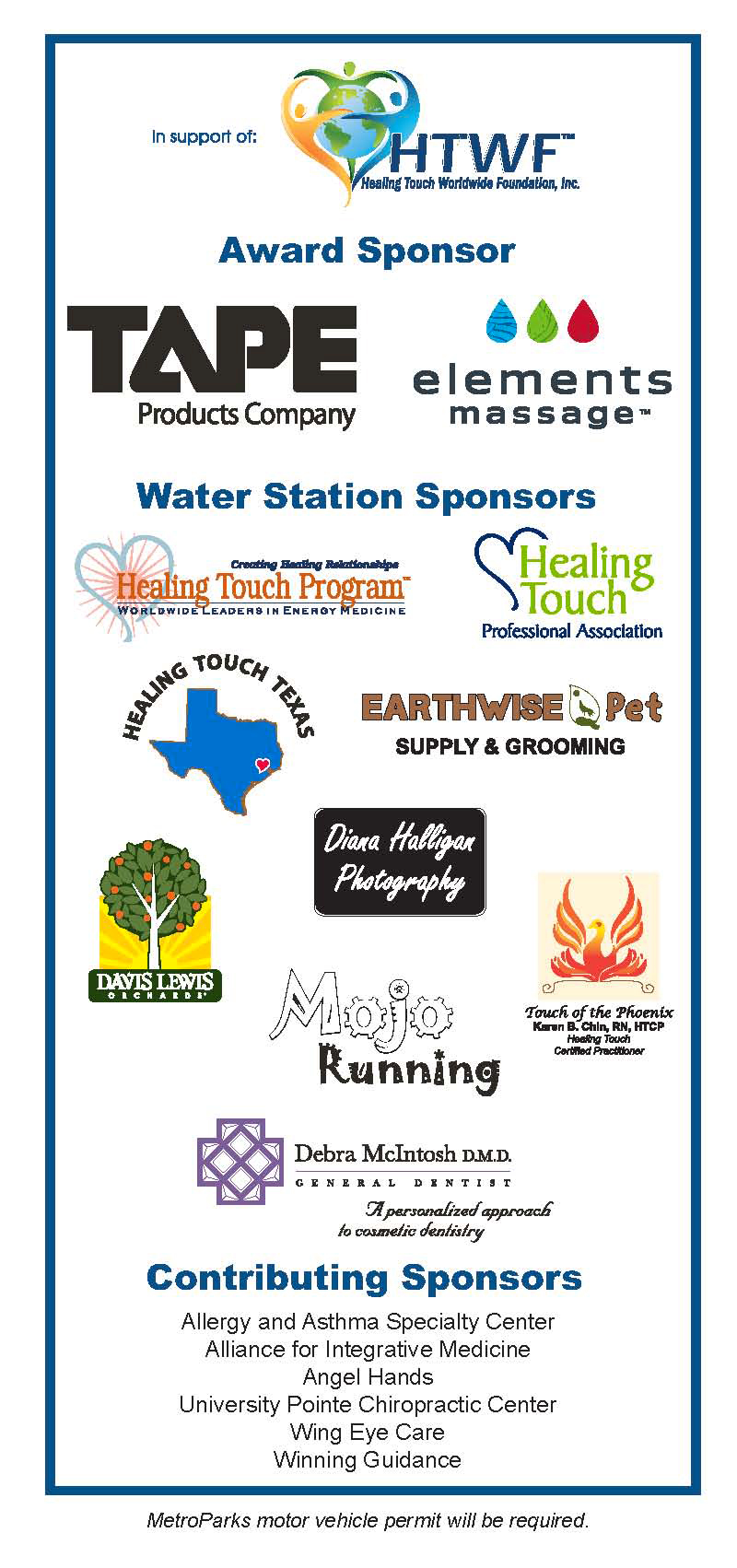 2017 5th Annual Heel to Heal Walk/Run Sponsors